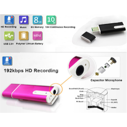 8GB Mini Portable Digital Voice Recorder