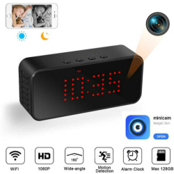 Super Nightvision WIFI Clock Camera