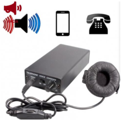 Portable telephone voice...