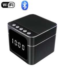 4K WIFI Clock Speaker Camera