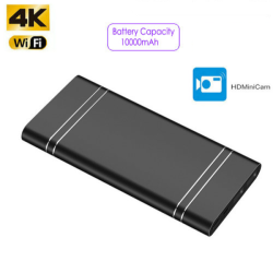 4K WIFI Powerbank Camera,...